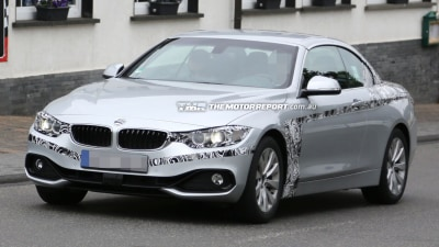 BMW 4 Series Convertible Spied