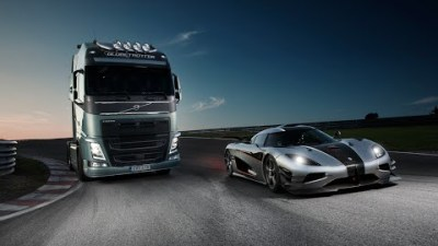 Koenigsegg One:1 Vs Volvo FH Truck In An Unlikely Showdown: Video