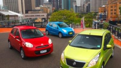 City lights: Suzuki Alto v Holden Barina Spark v Nissan Micra