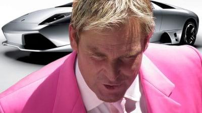 Shane Warne Picks Up Lamborghini Murcielago As Lambo's First Australian Ambassador