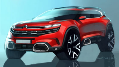 Citroen CEO Reveals First Sketches Of C5 Aircross SUV Via Twitter