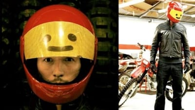 Genius: LEGO Inspired Motorcycle Helmet