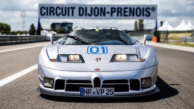 Rare Bugatti EB110 Sport Competitzione returns to the track after 25 years