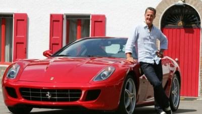 Michael Schumacher Jumps Behind The Wheel Of Ferrari 599 GTB HGTE