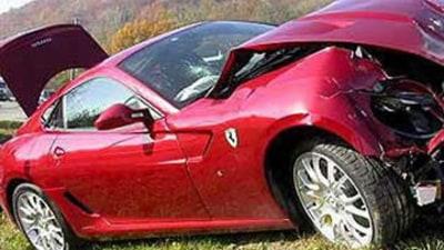 Ferrari 599 GTB crashed by Fiat CEO