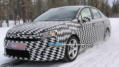 2016 Citroen Small Sedan Spied Testing