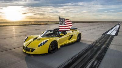 Hennessey Venom GT Spyder Overtakes Bugatti Veyron Grand Sport Vitesse As World's Fastest Convertible