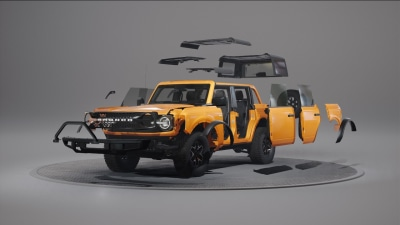 2021 Ford Bronco is a fully-customisable off-roader