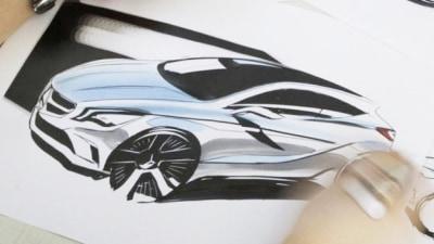 2012 Mercedes-Benz A-Class Illustration Surfaces