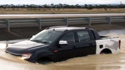 2012 Ford Ranger Gets Into Deep Water