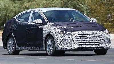 2015 Hyundai Elantra Facelift Spied