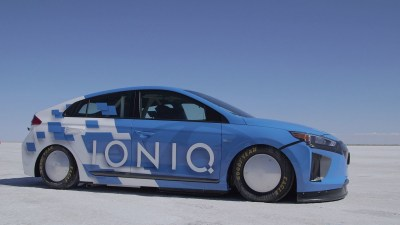 254km/h Hyundai Ioniq Sets Hybrid Land Speed Record