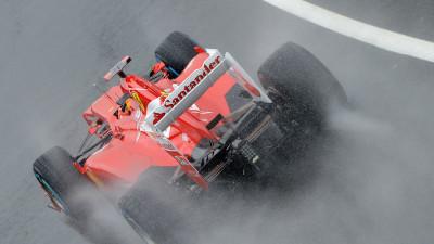 2012 British F1 GP: Fernando Alonso Takes Pole In Soggy Britain