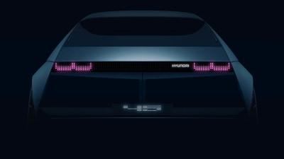 Hyundai 45 Concept: Retro-inspired EV teased for Frankfurt