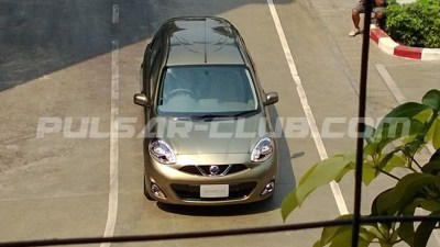 2014 Nissan Micra Facelift Spied