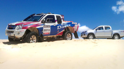 2012 Isuzu D-MAX Dune Test And Isuzu Motorsports Dakar Warmup