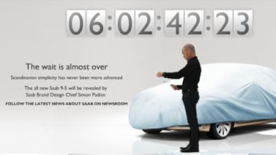 2010 Saab 9-5 Gets An Online Countdown To Launch
