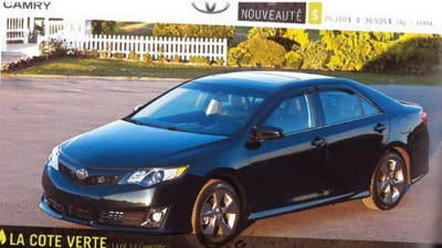2012 Toyota Camry Revealed In Magazine Leak