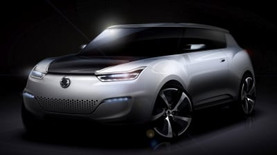 SsangYong e-XIV Range-extended Electric Concept Bound For Paris