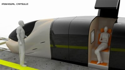 Capsule Train: Utopia's Public Transport