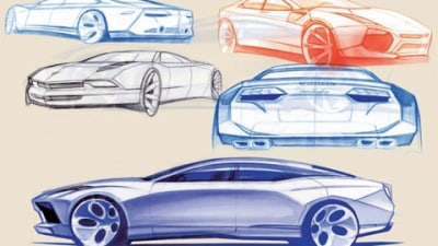 Four-Door Lambo Development Sketches Uncovered?