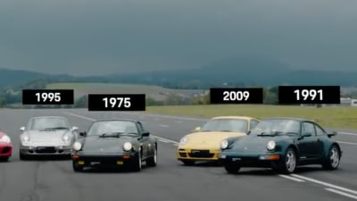 Porsche 911 Turbo drag-race: Watch every generation go head-to-head