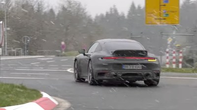 2022 Porsche 911 Sport Classic spied testing at Nurburgring