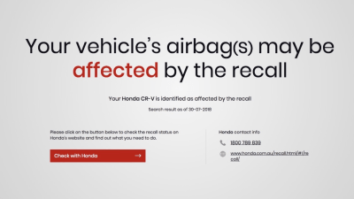 New website allows Australians to check for deadly Takata airbags