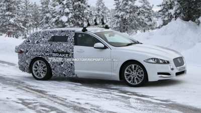 Jaguar XF Sportbrake Wagon Spied In The Snow
