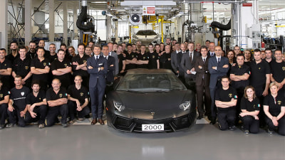 Lamborghini Reaches Halfway Point Of Aventador Production Run