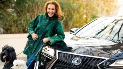 Star and car: Rhonda Burchmore