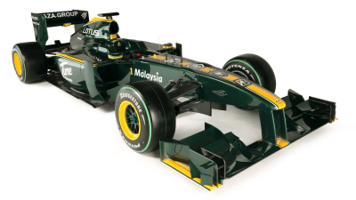 F1: 2010 Lotus Cosworth T127 Formula One Race Car Revealed