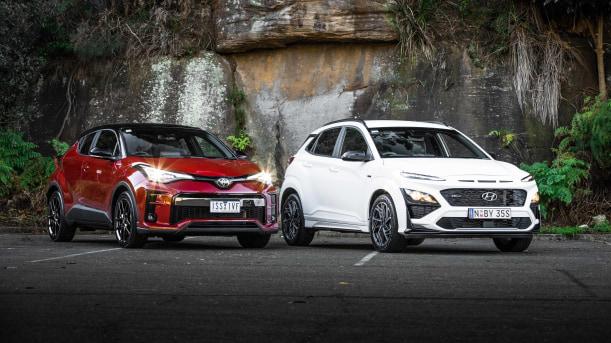 2021 Hyundai Kona N Line v Toyota C-HR GR Sport 2