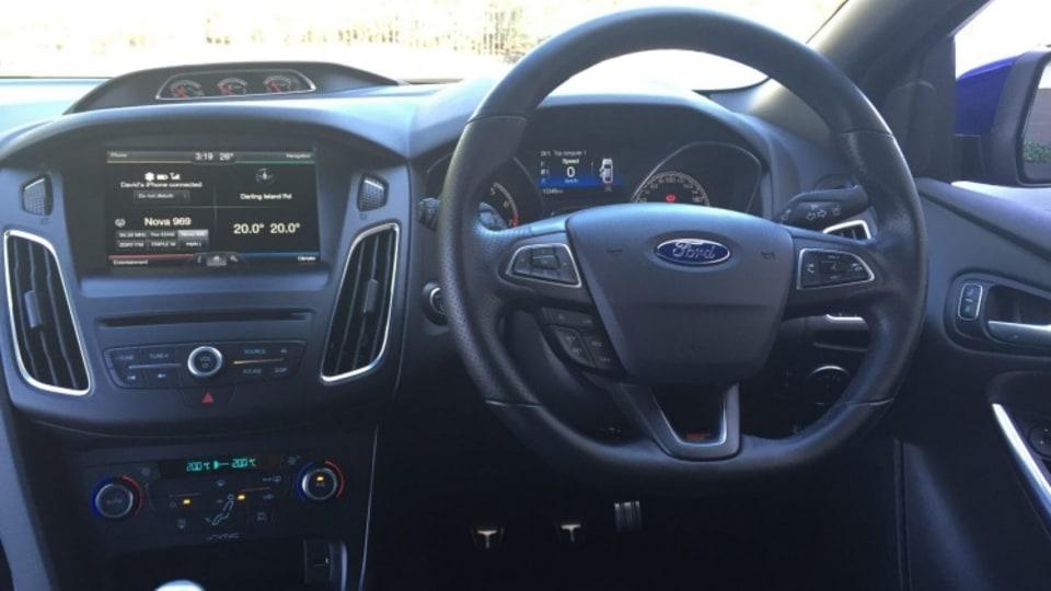 Ford Focus ST interior.