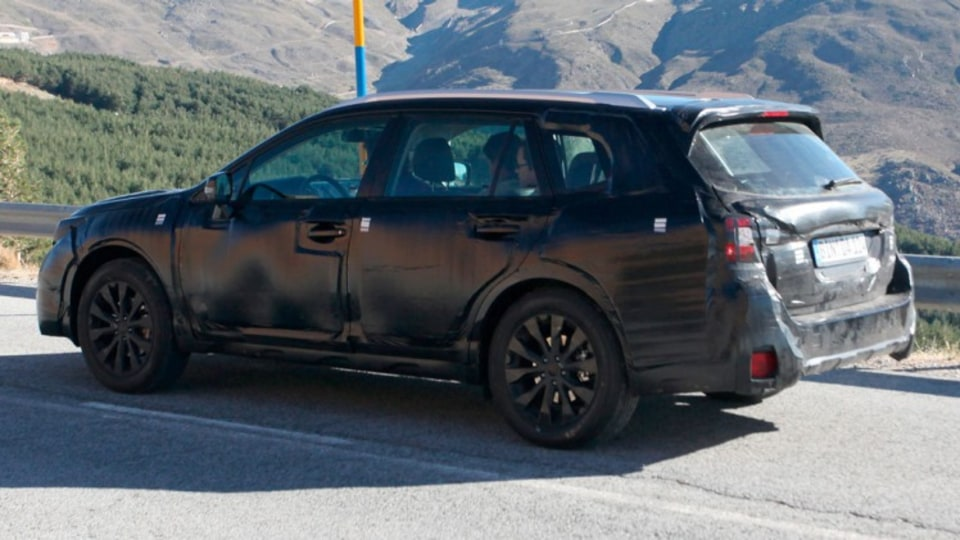 Subaru Liberty has been snapped by spy photographers during testing. Source: Automedia.