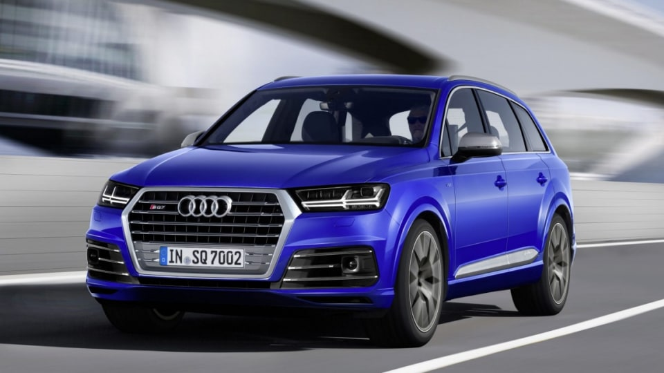 Audi has revealed its high-performance diesel SQ7 SUV.