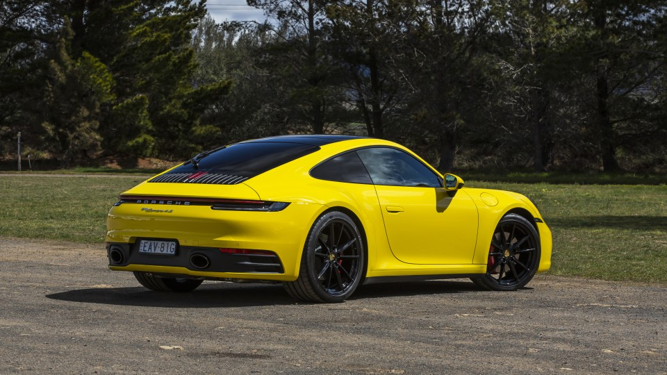 2020 best sports car over $100k porsche 911 carrera s exterior rear