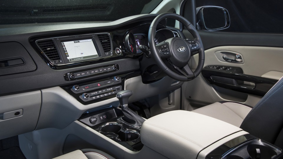 2020 best people mover kia carnival interior front