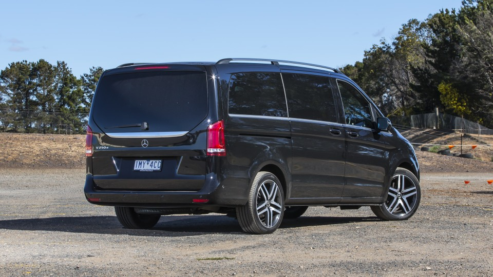 2020 best people mover finalist mercedes v class exterior rear