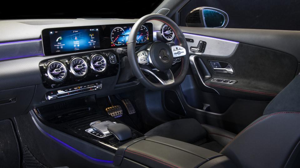 2020 best small luxury car merecedes benz a class interior