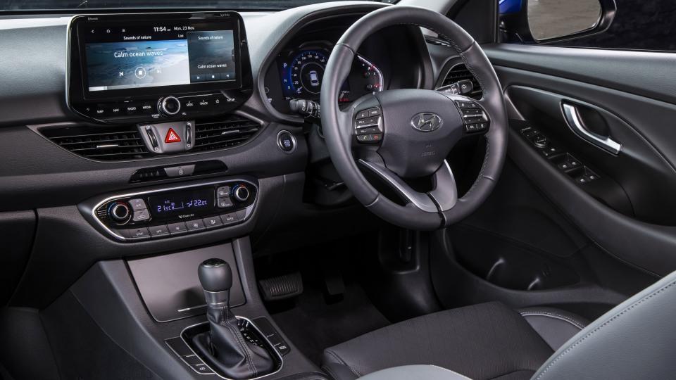 2021 best small car finalist hyundai i30 interior front driver seat
