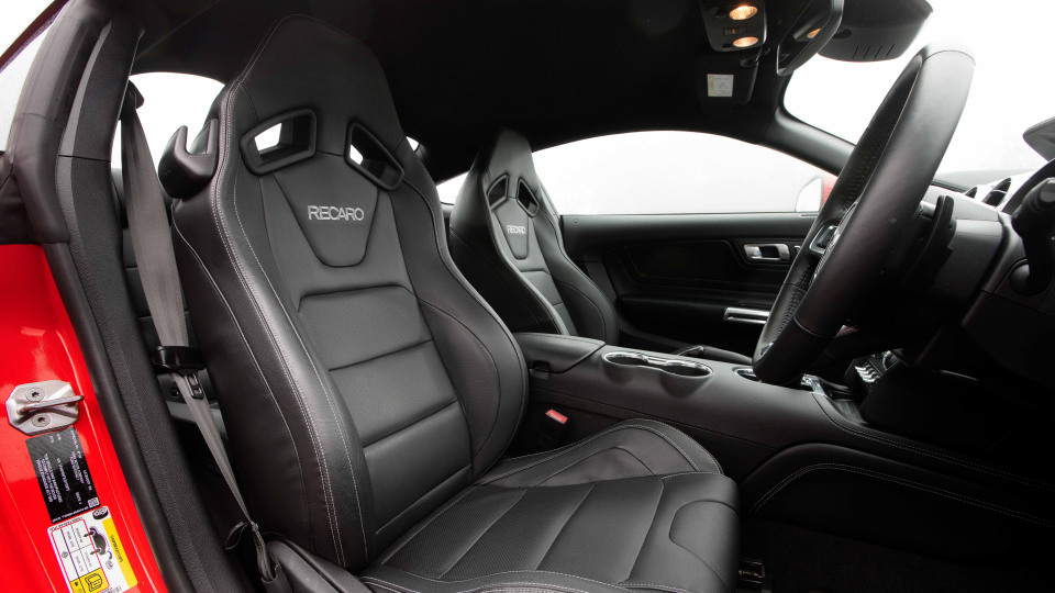 2018 Ford Mustang Recaro seats.
