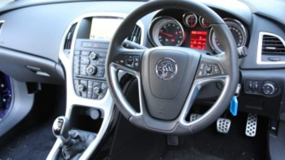 Inside the Holden Astra GTC Sport.
