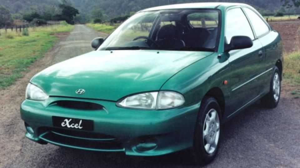 1994 Hyundai Excel.