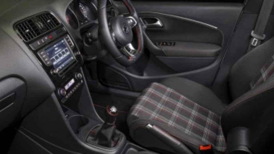 Volkswagen Polo GTI interior.