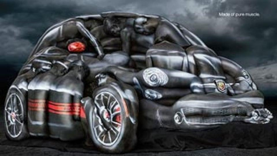 Watch: Fiat's racy body-paint ad