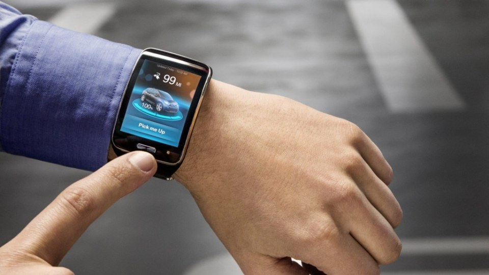 The BMW valet parking system can be activated from a smart watch