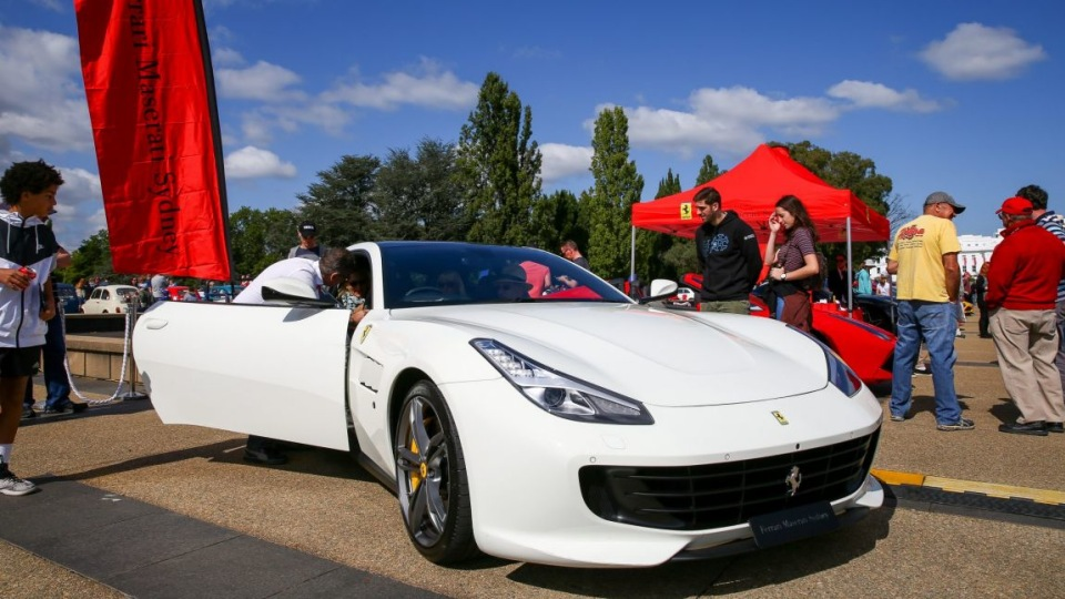 Ferrari gave the first public display of its GTC4 Lusso at AutoItalia in Canberra