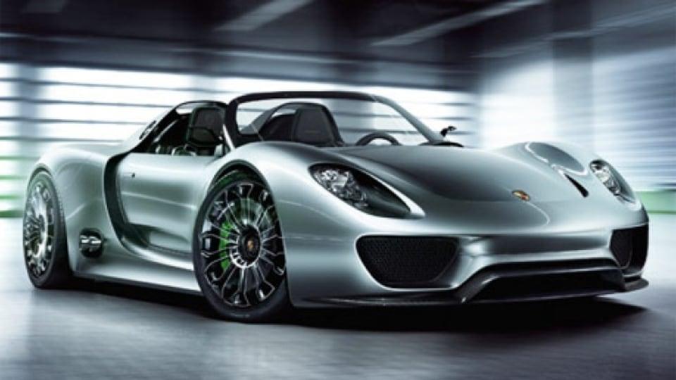 Porsche's hybrid 918 Spyder concept.