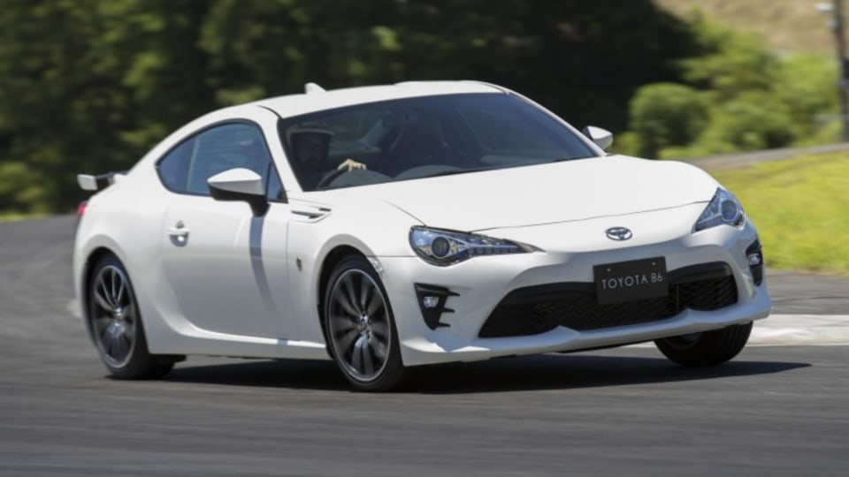 Updated Toyota 86 on track at Fuji Speedway.